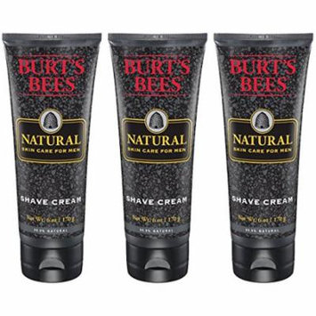Burt's Bees Natural Skin Care for Men Shave Cream, 6 Ounces, Pack of 3 - Multi-Pack