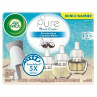 Air Wick Pure Scented Oil Starter Kit (Free Warmer + 3 Refills), Florida Keys Coconut Water, Air Freshener