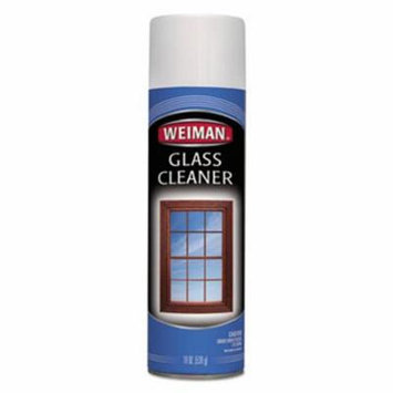 Weiman Foaming Glass Cleaner, 19-oz. Aerosol Can, 6 Cans (WMN10CT)