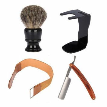 VBESTLIFE Shave Set Straight Manual Razor Shaving Brush Leather Sharpening Strop Belt Men Grooming Kit,Shave Set, Men Shave Set