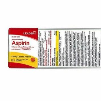 Leader Aspirin Enteric Coated Tablets, 325mg, 125ct 096295131192A354