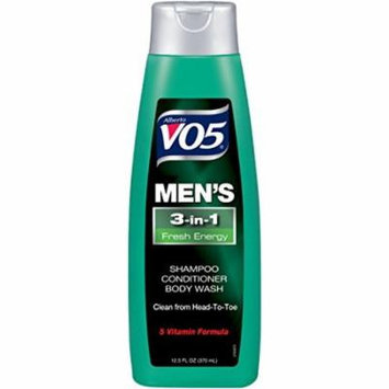 VO5Men's 3-in- Shampoo Conditioner Body Wash Fresh Energy (Pack of 4)