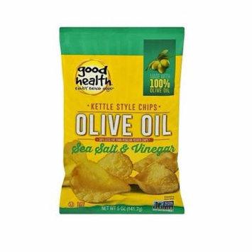 Good Health Salt & Vinegar Olive Oil Kettle Style Potato Chips 5 oz Bags - Pack of 12