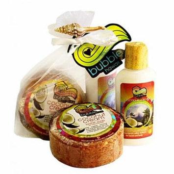 BUBBLE SHACK HAWAII - MINI LOTION AND LOOFAH SOAP GIFT SET Coconut Volcano