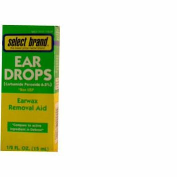 Select Brand Drops Ear Wax Removal Aid - 0.5 Oz (15 Ml) - Compare to Active Ingredients in Debrox...