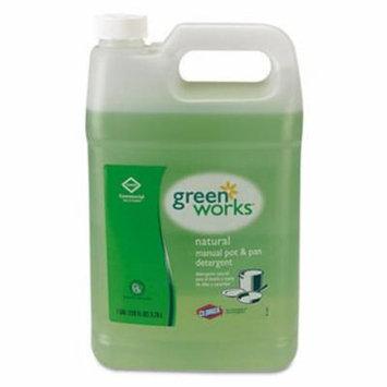 Green Works Pot & Pan Detergent, Natural Scent, 1 Gallon Bottle (CLO30388)