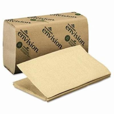 Envision 23504 Singlefold Paper Towel, Brown, 4,000 Towels (GPC23504)