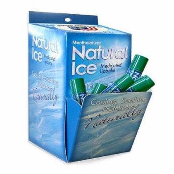 2 Pack Mentholatum Natural Ice Lip Balm Original SPF 15, 1 Each (Packs of 48)
