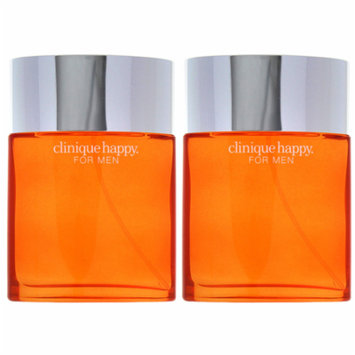 Happy by Clinique Cologne Spray for Men 3.4 oz (PACK 2)