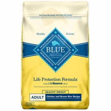 Blue Buffalo Life Protection Formula Natural Adult Healthy Weight Dry Dog Food, Chicken and Brown Rice, 24-lb