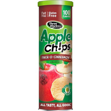 ThreeWorks Apple Chips, Pinch-o-Cinnamon, 1.76 Ounce (Pack of 12)