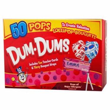 Dum-Dums Valentine Kit with 50 Lollipops