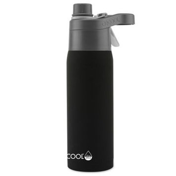 Glj Llc Import O2COOL Vacuum-Insulated Stainless Steel 20-Ounce Bottle With Windsor Mist 'N Sip Top