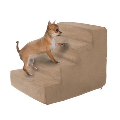 Trademark Global Llc High Density Foam Pet Stairs 4 Steps with Machine Washable Zippered Removeable Micro-Fiber Cover with non-slip bottom by PETMAKER