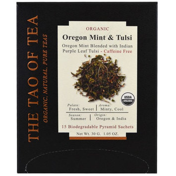 The Tao of Tea, Organic Oregon Mint & Tulsi, 15 Pyramid Sachets, 1.05 oz (30 g) [Flavor : Oregon Mint & Tulsi]