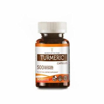 Turmeric 90 Capsules, 500 mg, Organic Turmeric (Curcuma Longa) Dried Root