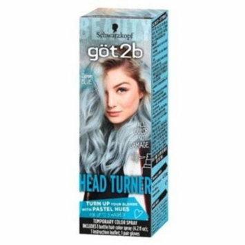 2 Pack - Schwarzkopf Got2B Color Headturner Temporary Hair Color Spray Peach, 4.2 oz