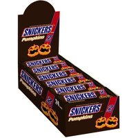 Mars Chocolate Snickers Halloween Pumpkins 2-To-Go Chocolate Candy, 2.83 oz, 24 count