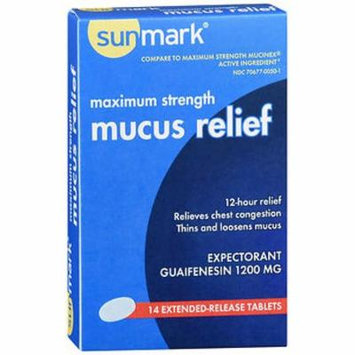 Sunmark Mucus Relief Extended-Release Tablets Maximum Strength - 14 ct