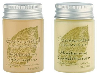 Ecossential Elements Conditioner and Shampoo Lot of 18 (9 of each) 1oz Bottles