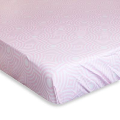 Jonathan Adler Crafted by Fisher Price Sorrento Fitted Crib Sheet in Pink