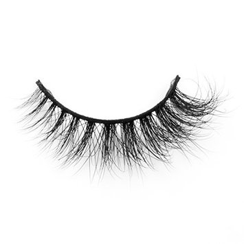 Mink Eyelashes Strip Soft Criss Cross Long Faux Mink Lashes Luxury Christmas False Eyelashes Party for Women by EYEMEI