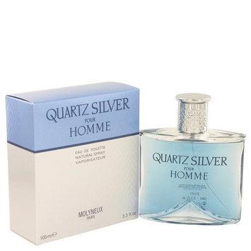 Quartz Silver by Molyneux Eau De Toilette Spray 3.4 oz