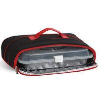 Insulated Casserole Carrier with Handle by Picnic Plus Black/Red