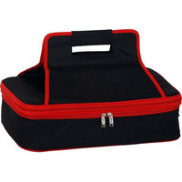 Insulated Casserole Carrier with Handle by Picnic Plus Red/Black