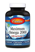 Maximun Omega 2000 Carlson Laboratories 90 Softgel