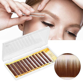 False Eyebrow, Mixed Dark Brown False Eyebrow Extension Fake Eyebrow Enhancer Individual Eyebrows 5-8mm
