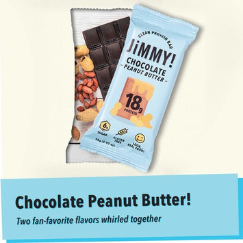 JiMMY! Clean Protein Bars, Natural & Gluten Free, High Protein, Low Sugar, Chocolate Peanut Butter, 12 Pack [Chocolate Peanut Butter]