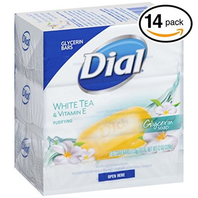(PACK OF 14 BARS) Dial WHITE TEA Antibacterial Bar Soap. Round the Clock Odor Protection. Leaves Skin Smooth & Radian! Hypo-Allergenic. Great for Hands, Face & Body! (14 Bars, 4oz Each Bar) : Beauty