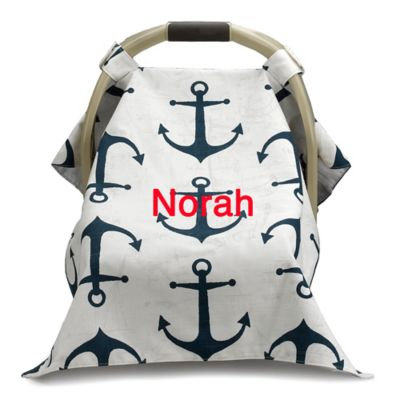 Liz and Roo Nautical Car Seat Cover in Navy/White