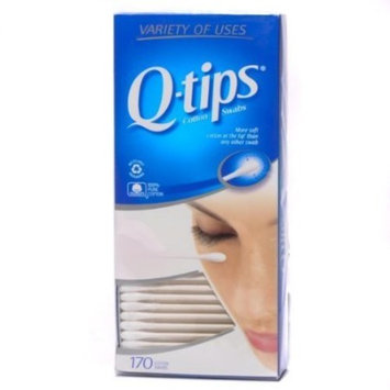 Q-TIps Cotton Swabs 170 Count (Pack of 3)