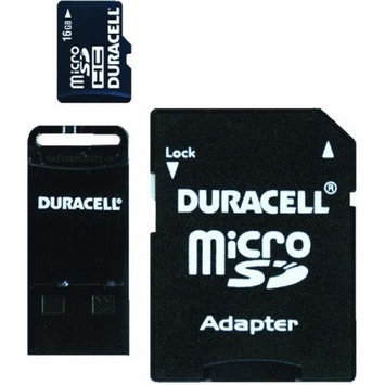 Duracell Du3In116GC Micro Secure Digital Card With Universal Adapter, 16GB