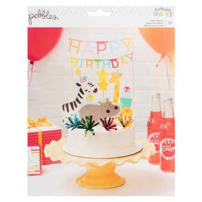 Pebbles Inc. Pebbles Happy Hooray Cake Topper
