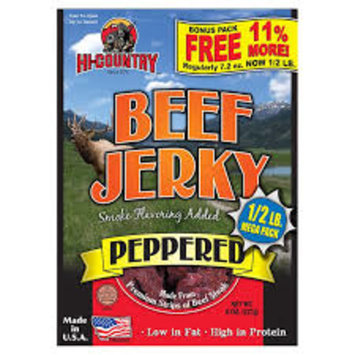 Hi-Country Peppered Beef Jerky, 8 oz
