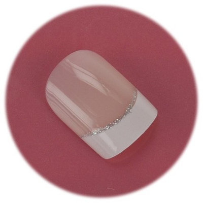 Body Collection False Nails - French Manicure With Glitter Strip