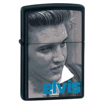 Zippo Lighter Elvis Blue, Black Matte
