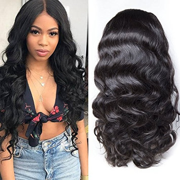 Maxine 360 Lace Frontal Wig Cap With Baby Hair Body Wave Brazilian Virgin Hair 100% Unprocessed Human Hair Wigs For Black Women