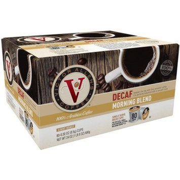 Victor Allen's Coffee Decaf Morning Blend Single Serve Brew Cups, 0.34 oz, 80 count