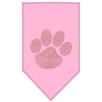 Mirage Pet Products 6758 SMLPK Paw Orange Rhinestone Bandana Light Pink Small