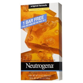 Neutrogena Transparent Soap Bar 3 Pack Fragrance-Free (9 Bars)