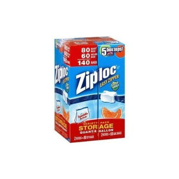 Ziploc Bags Gallon & Quart Double Zipper Variety Pack (Total of 204 All Purpose Storage Bags)
