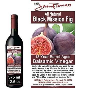 Black Mission Fig Aged 18 Years Italian Balsamic Vinegar 100% All Natural 375ml (12.5oz)