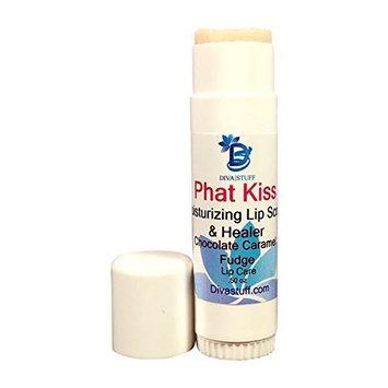 Phat Kiss Chocolate Caramel Fudge Flavor Stick Style Lip Scrub, Nourishing, Exfoliating, Healing and Amazing, By Diva Stuff