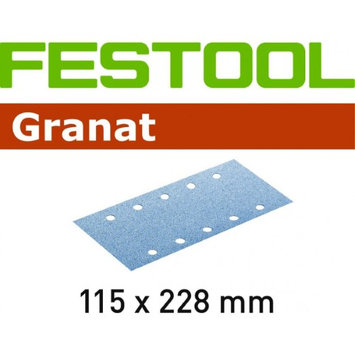 Festool Granat StickFix Abrasive Sanding Sheets 115 x 228mm P60 Pack of 50