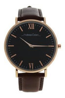 Andreas Osten Ao-88 Klassisk - Rose Gold/Brown Leather Strap Watch Watch For Men 1 Pc