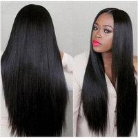 Rruaneal Hair Products Unprocessed Brazilian Human Virgin Hair Straight Hair Bundle Deals 3 pcs Natural Black Color Raw Straight Hair Extension